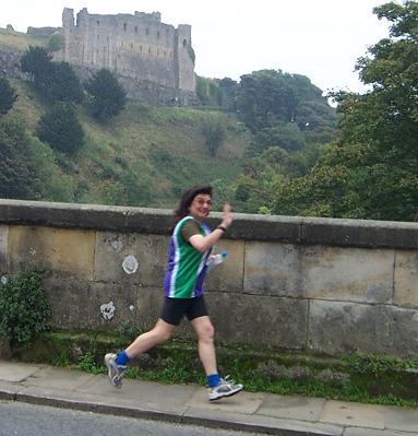 Pam passing Richmond Castle