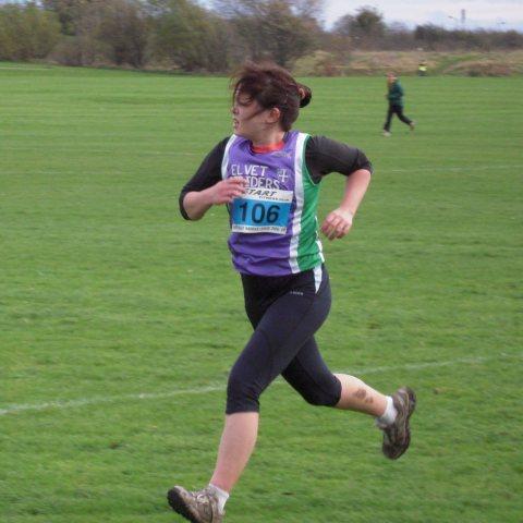 Nina finishing strongly in the Davison Shield