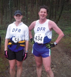 Ros and Dougie model his 'n' hers Ron Hill gloves.