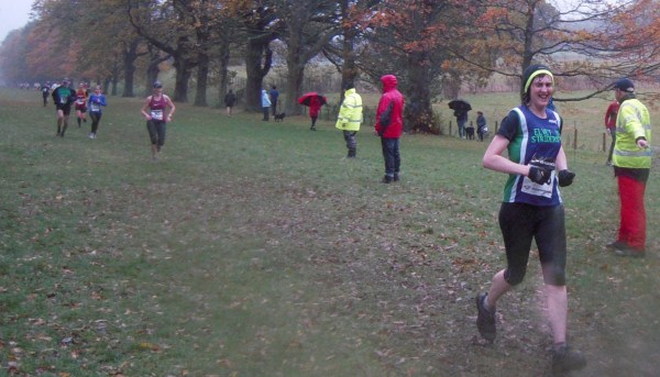 Jane takes a last soggy run along the Gibside Avenue.