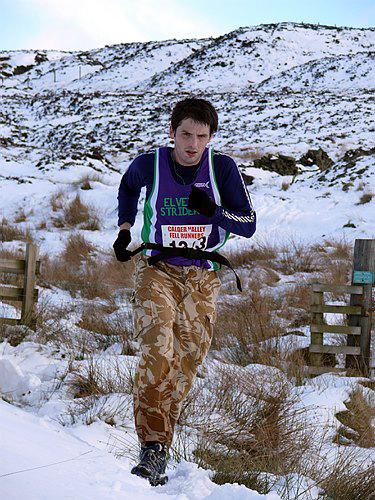 Paul trogging in the snow.