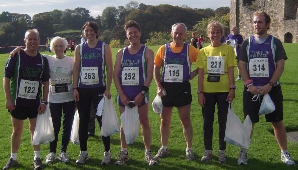 Seven Striders at the finish in Richmond.