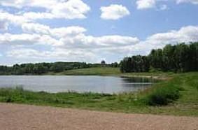 Serpentine Lake at Hardwick Hall.