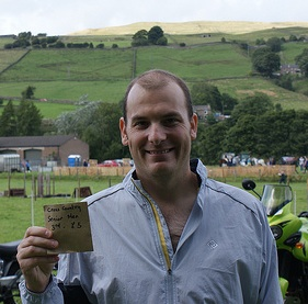 Alister with his winnings at the Weardale Show