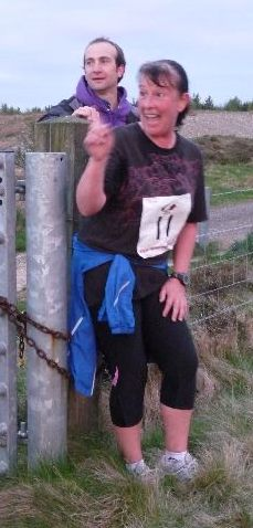 Sue at here first fell race.