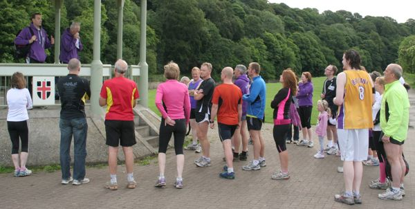 Alister makes the Parkrun announcements