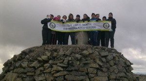 Emma and friends on top of Ben Nevis