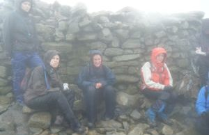 Emma and friends on top of Snowdon