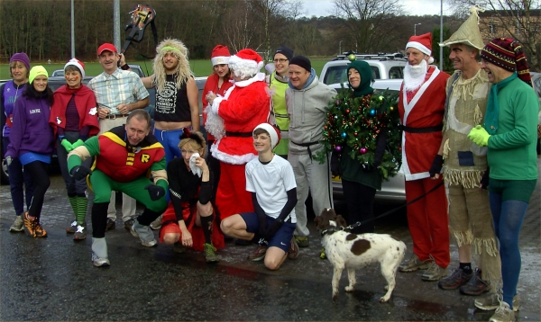 Festive celebs, Santas and elves.