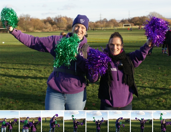 In a dazzling new Strider innovation, Jacquie and Louise support our runners using Semaphore: S T R I D E R S!