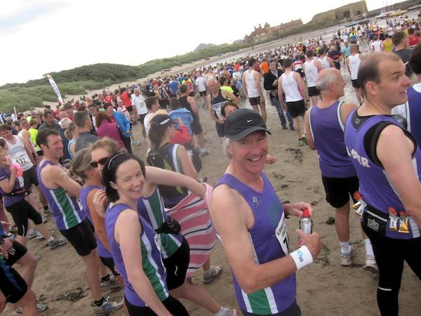 Striders on the beach