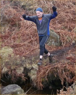 Majestic leap over a beck. Just needed a couple of handkerchieves, mind ...