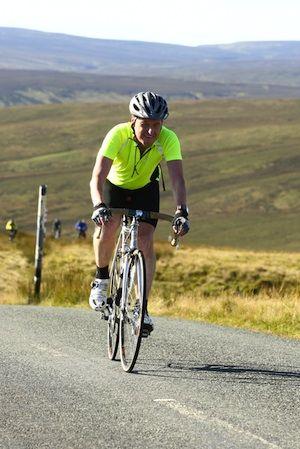Dougie on a classic eighties bike