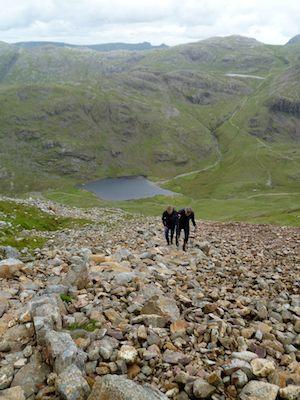 Geoff tackles a rocky climb