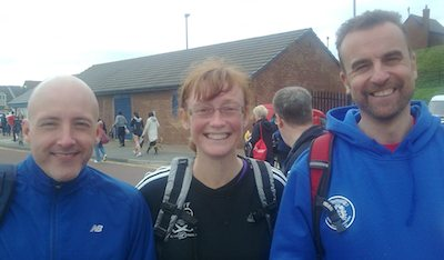 Kathryn with  Alan Knebel and Dean Phillips of Sunderland Strollers