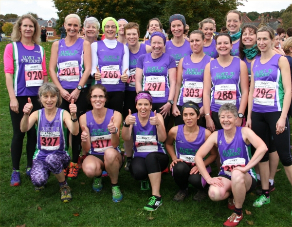 Striders Women! Disproportionately pleased to be having first go over a Harrier League course for the first time ...
