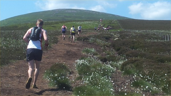 The long slog up the Cheviot ...