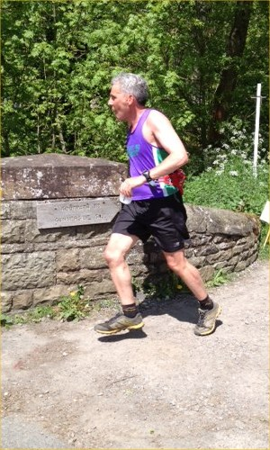 Mike Hughes going well at Gunnerside.