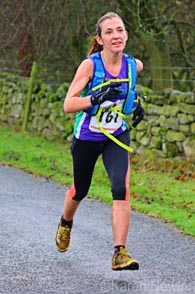 Penny runs home into 38th place overall and third lady at the Commondale Beacon Fell Race 2014
