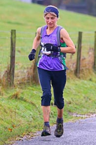 Jan running into 87th place at the Commondale Beacon Fell Race 2014