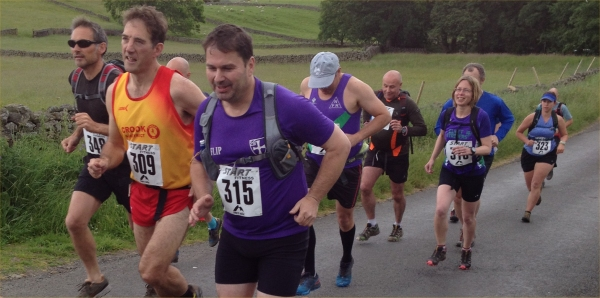 Tarmaccy start to a good fell race ...