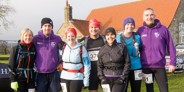 Elvet Striders at the Hardmoors Trail Events, Goathland, North Yorks: Jules; Mark; Anita; Phil; Diane; Helen; Lyndsay