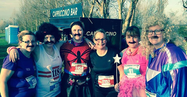 'Mo Sistas' suitably attired for the MoRun 5K at Newcastle
