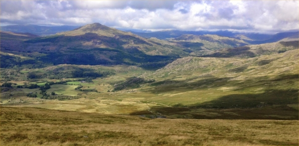 From Dow Crag looking into Duddon Valley.