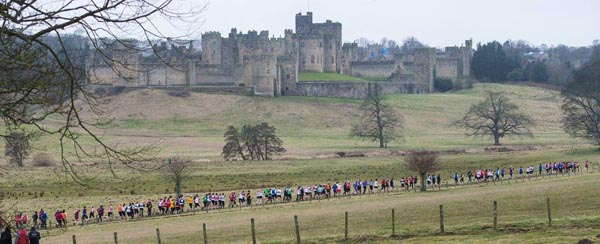 Cross country in the grounds of Alnwick Castle