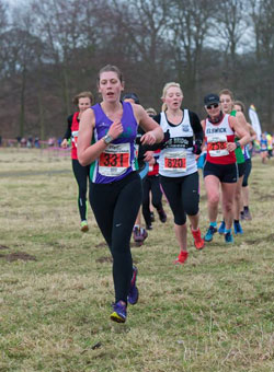 Steph on the way to leading the Striders' ladies home
