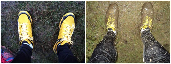 Gareth's lovely new Mudclaws - before and after