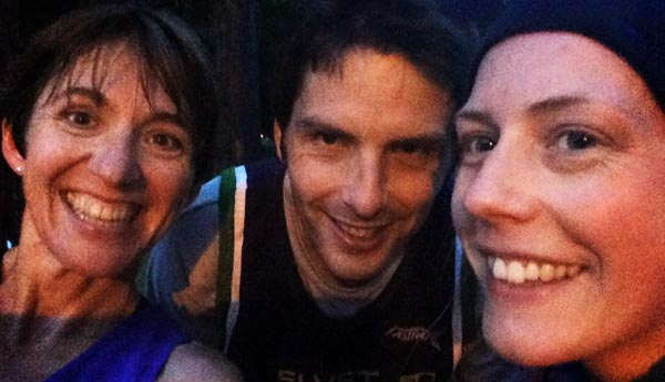 Penny, Paul & Steph come together for an almost nocturnal 'selfie'.
