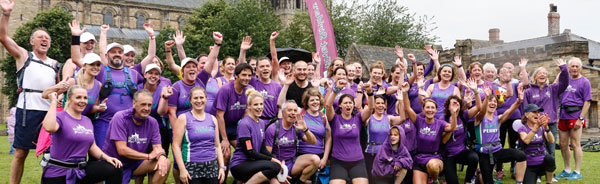 Elvet Striders Relay Runners on Palace Green at the end of a successful 2015 Charity Relay