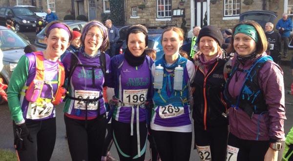 Striders ladies at the Hardmoors Osmotherley Half Marathon 2015