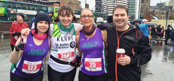 Kathleen, Kerry, Denise and Phil at the 2015 Liverpool Half Marathon