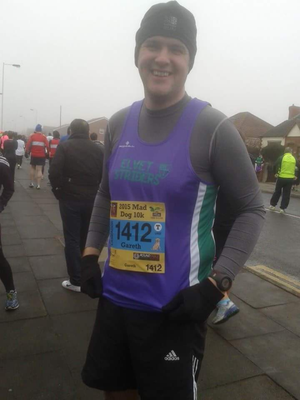 Gareth representing Striders at Southport.