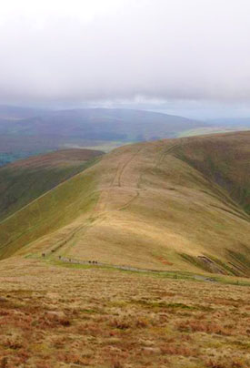 View from Calders at the Montane Trail 13 half marathon in the Howgills, May 2015