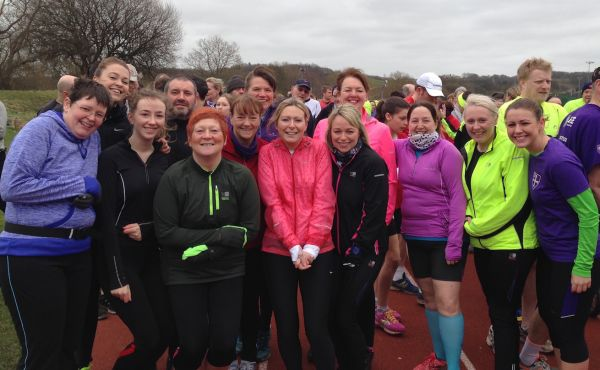 A C25K group at a parkrun.