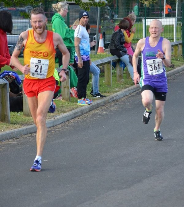 Stephen on course for a PB