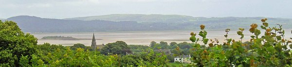 Photograph showing view over Morecambe Bay.