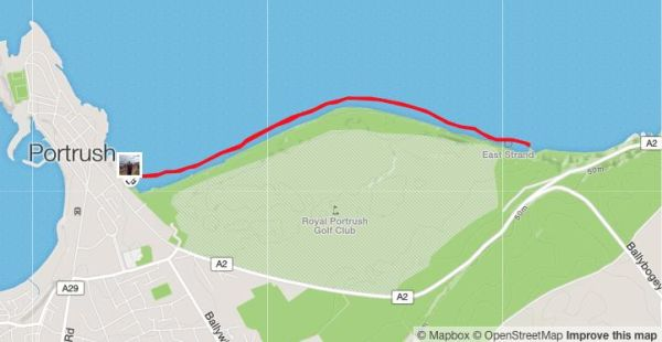 The course route - it looks a bit Chariots of Fire.