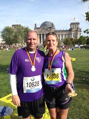 Best running moment 2014 - Watching Jill in Berlin as she smashed her Marathon PB Running ambition 2015 - To stay fit and finish The Wall